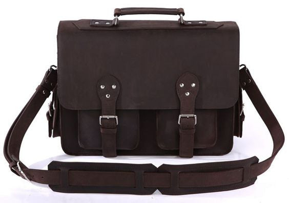 16″ Leather Briefcase – 7145R - Jason Gerald