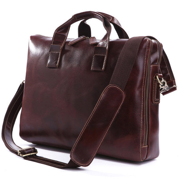 15.5″ Leather Briefcase – 7167Q - Jason Gerald