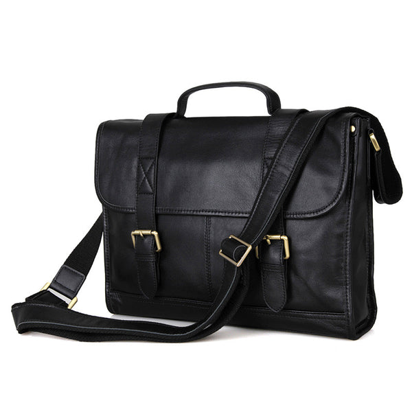 "14"" Leather Briefcase - 7101A - Jason Gerald"