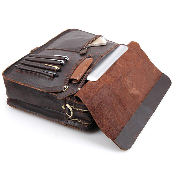 "15.4"" Leather Briefcase - 6020R - Jason Gerald"