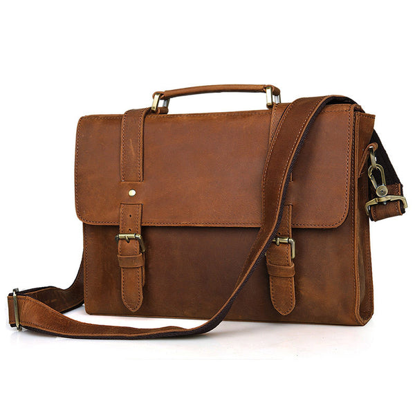 "13.5"" Leather Briefcase - 6076B - Jason Gerald"