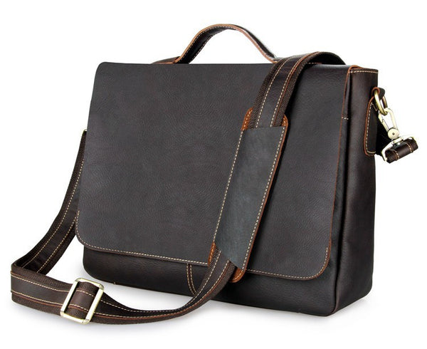 "15"" Leather Briefcase - 7108Q-1 - Jason Gerald"