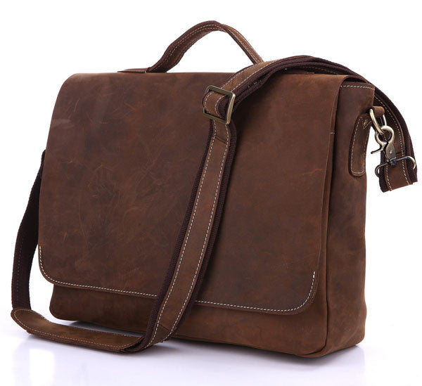 15″ Leather Briefcase – 7108R-1 - Jason Gerald