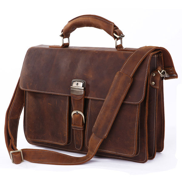 16″ Leather Briefcase – 7164R - Jason Gerald