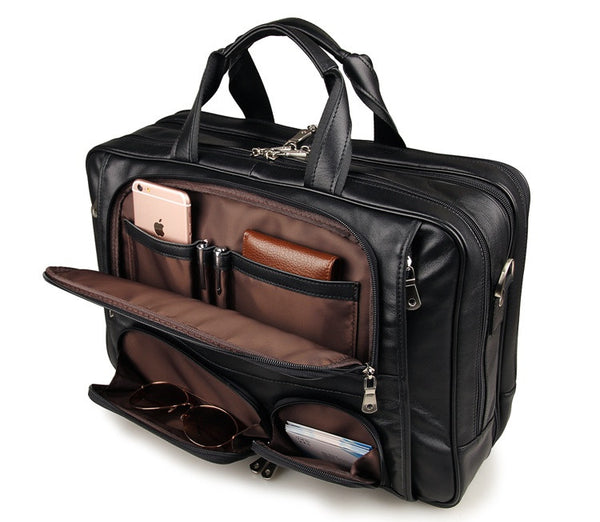 17.5″ Leather Briefcase – 7289A - Jason Gerald