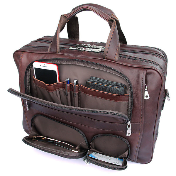 17.3 Leather Briefcase - 7289X - Jason Gerald