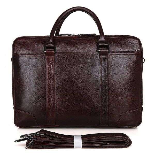 "16"" Leather Briefcase - 7348C - Jason Gerald"
