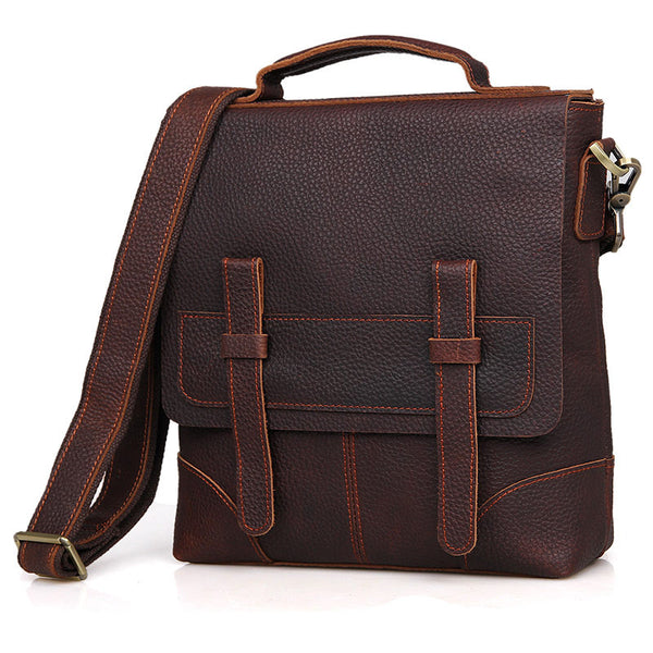 "11"" Leather Messenger Bag - 6034 - Jason Gerald"