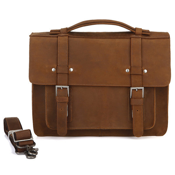 "13.5"" Leather Messenger Bag - 7050B - Jason Gerald"