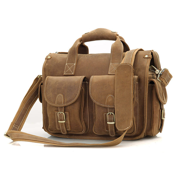 13.5 Leather Messenger Bag - 7106B - Jason Gerald