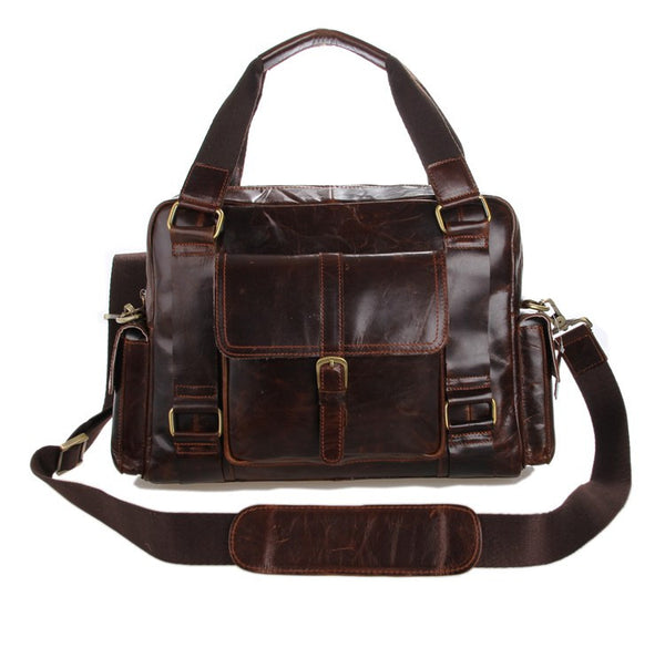 "13"" Leather Messenger Bag - 7206C - Jason Gerald"
