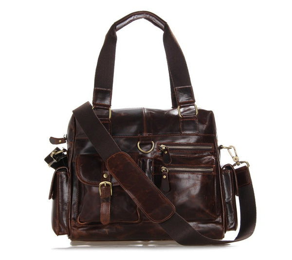 "12"" Leather Messenger Bag - 7207C - Jason Gerald"