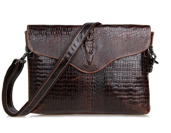 "12"" Leather Messenger Bag - 7267C - Jason Gerald"