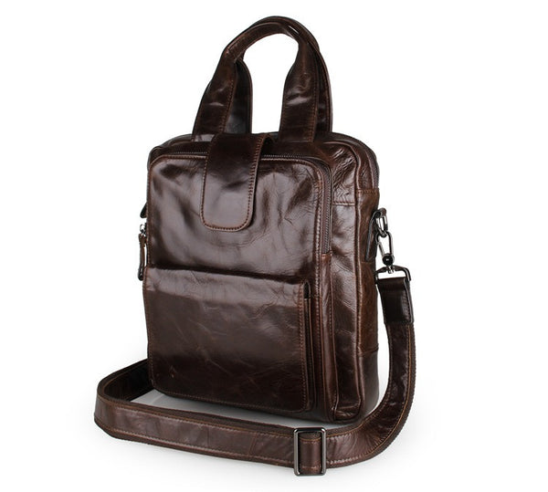 "10"" Leather Messenger Bag - 7266C - Jason Gerald"
