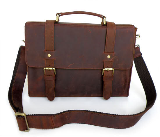 13″ Leather Messenger Bag – 6076 - Jason Gerald