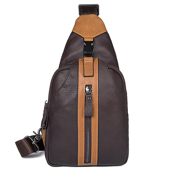 The Kevin - Brown Leather Sling Bag