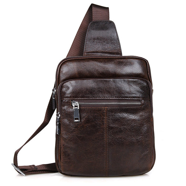 "10"" Leather Sling Bag – 7216C - Jason Gerald"