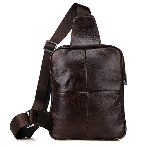 Leather Sling Bag – 7217C - Jason Gerald