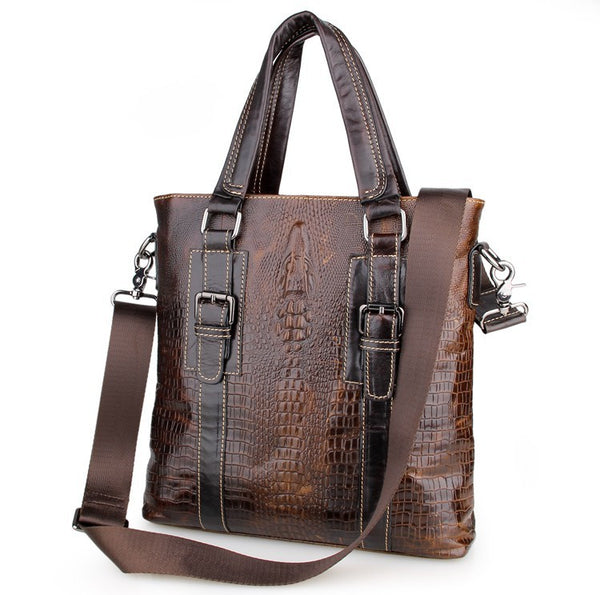 "11.5"" Leather Messenger Bag - 7265C - Jason Gerald"