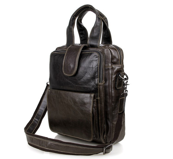 "10"" Leather Messenger Bag - 7266J - Jason Gerald"