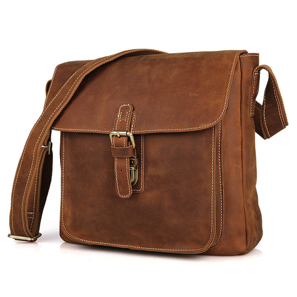 "12.5"" Leather Messenger Bag - 7111B - Jason Gerald"