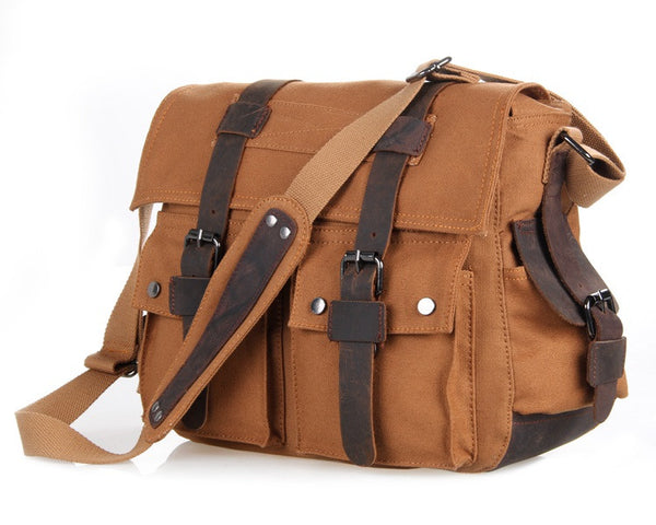 13.5″ Canvas Messenger Bag – 9002B - Jason Gerald