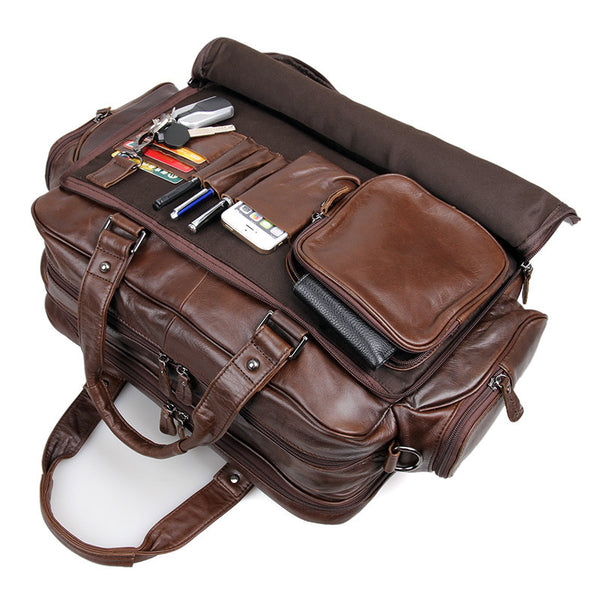 16″ Leather Briefcase – 7150Q - Jason Gerald