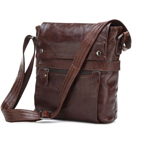 10.5 Leather Messenger Bag - 7121C - Jason Gerald