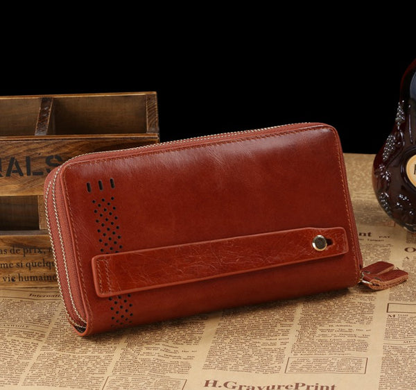 The Amanda - Leather Purse with Carrying Strap