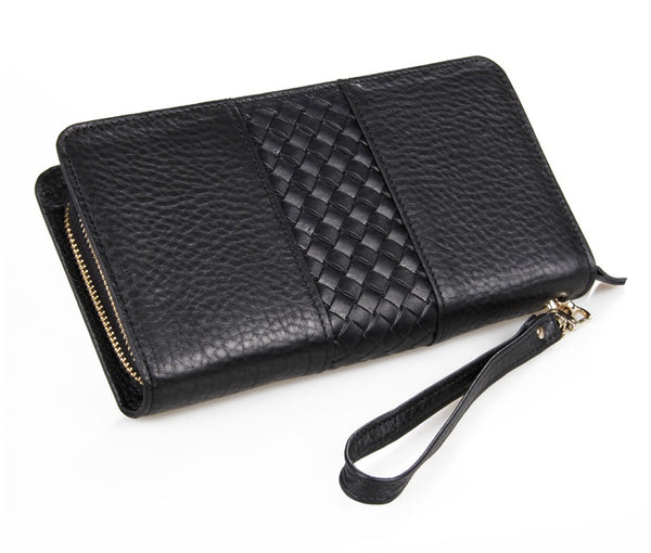 The Michele  - Black Leather Purse