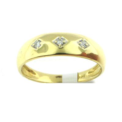 3 Stone Men Diamond Band