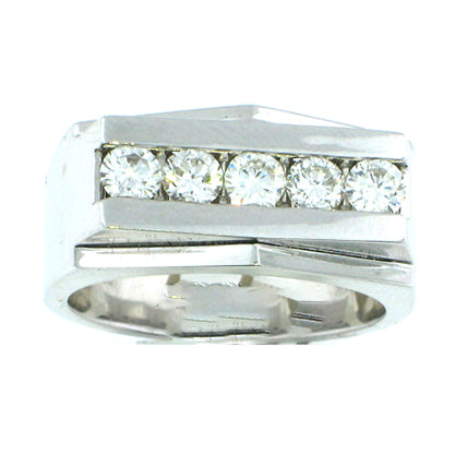 5 Stone Men's Diamond Ring