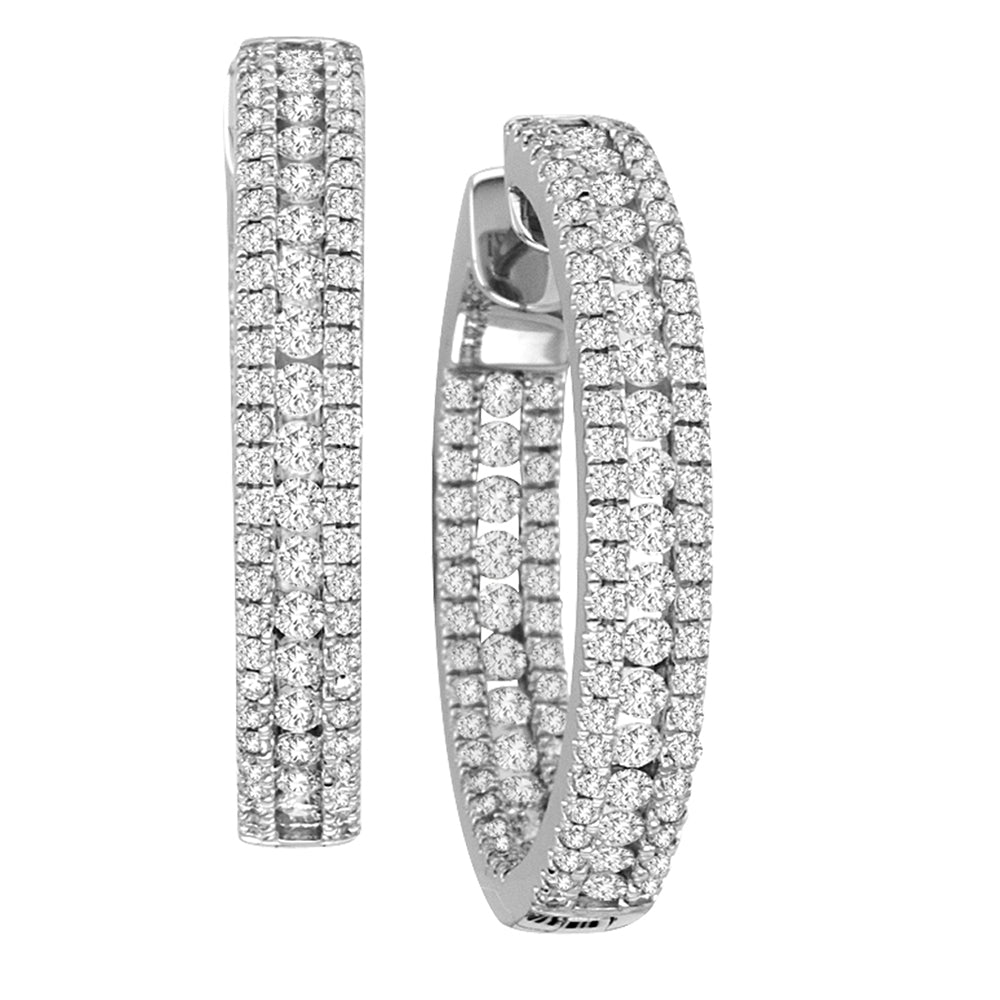 INSIDE-OUT ROUND SHAPE DIAMOND HOOPS