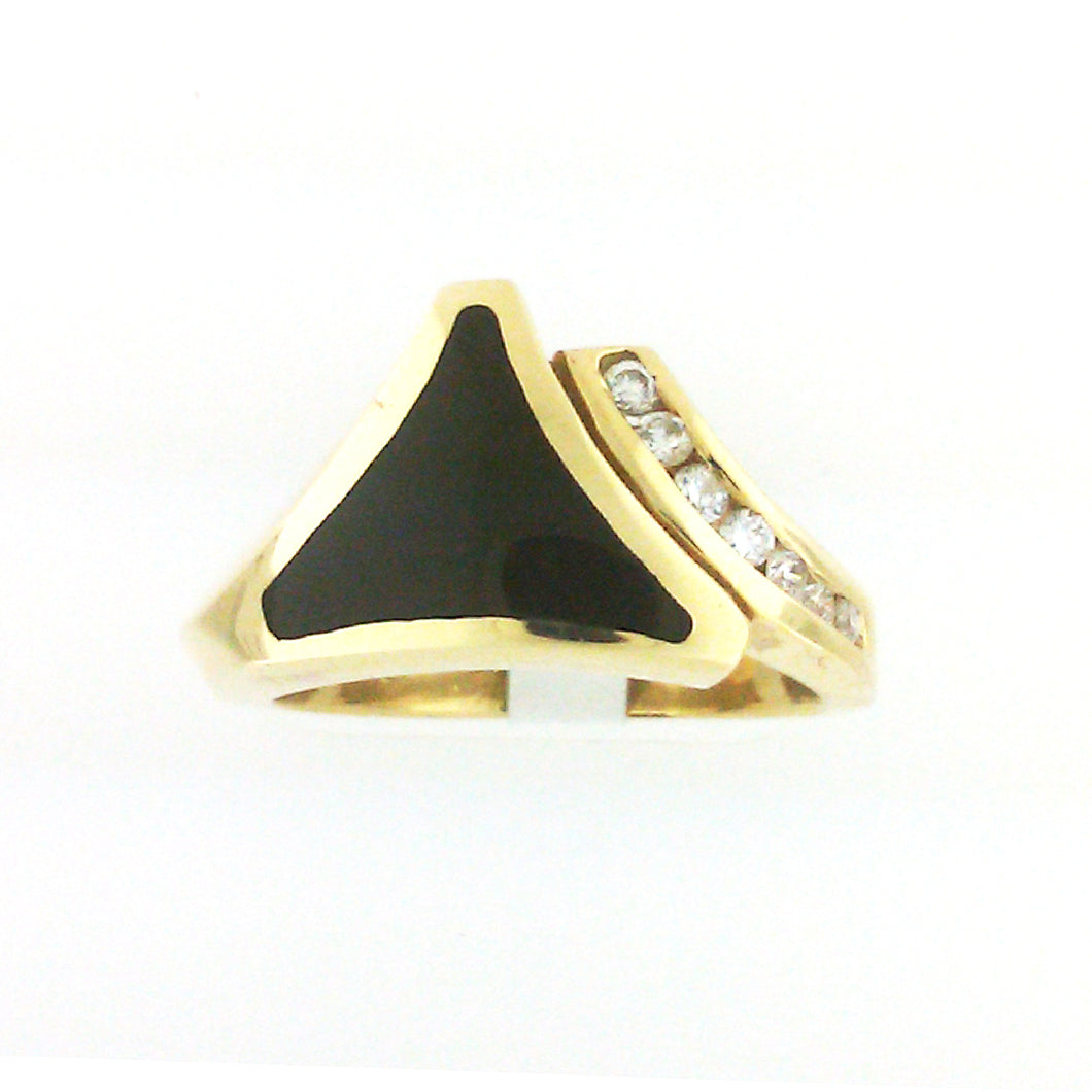 Onyx Triangle Ring