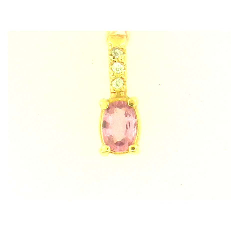 Oval Pink Sapphire Pendant