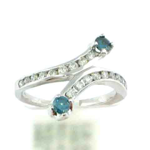 Twisted Blue Diamond Ring