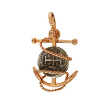 REPLICA ATOCHA COIN PENDANT IN A FOULED ANCHOR SETTING- 34441