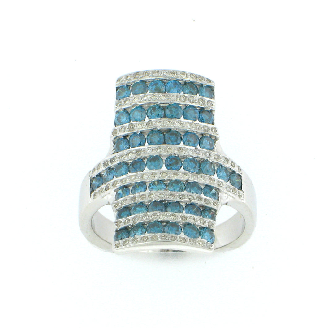 Cocktail Blue Diamond Ring