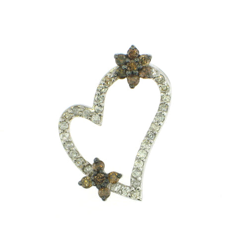 Brown Diamond Heart Pendant