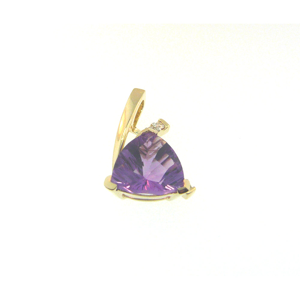 Trillion Cut Amethyst Necklace