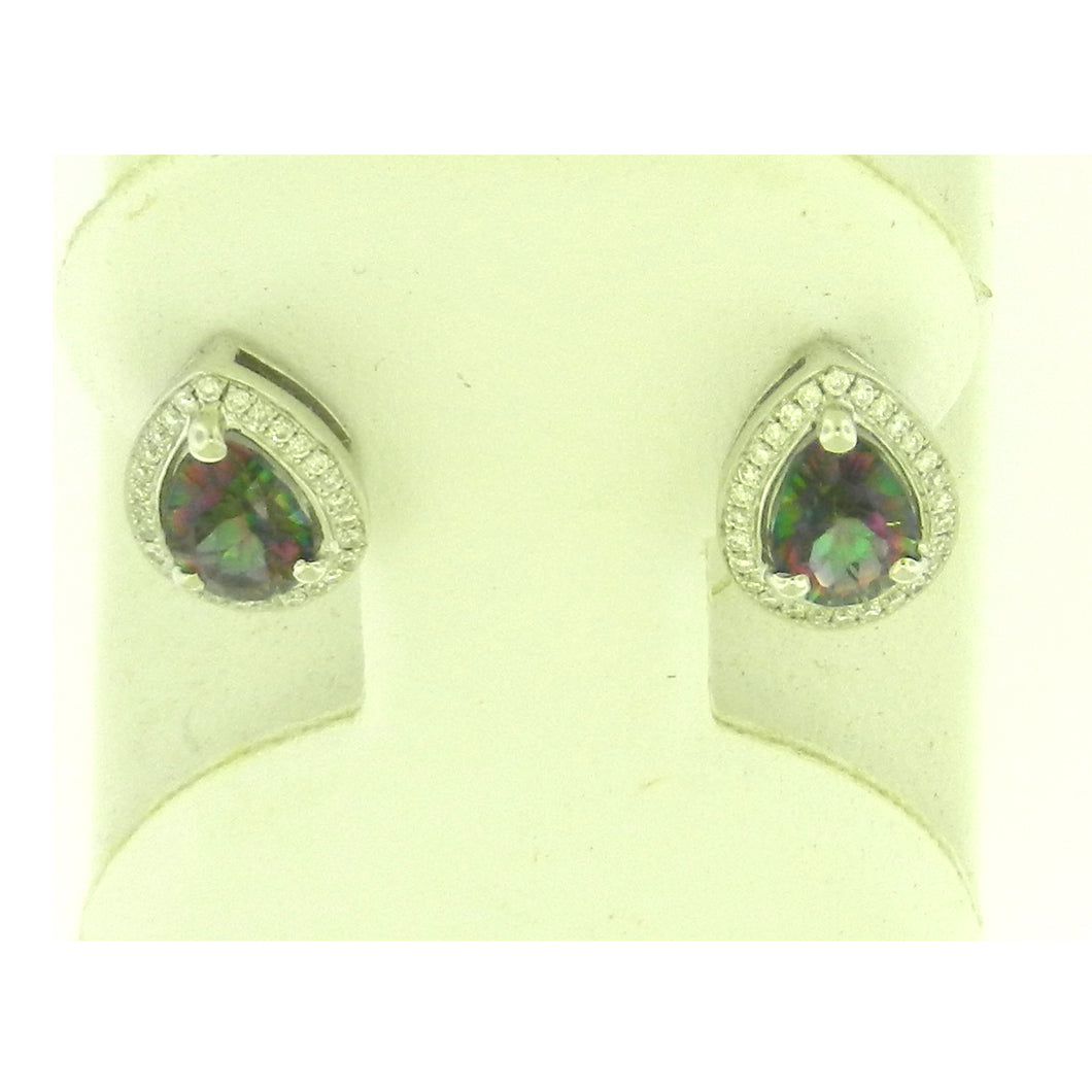 Tear Drop Rainbow Topaz Earrings