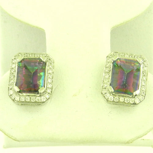 Radiant Rainbow Topaz Earrings