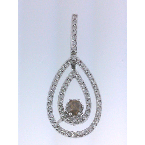 Tear Drop Brown Diamond Pendant