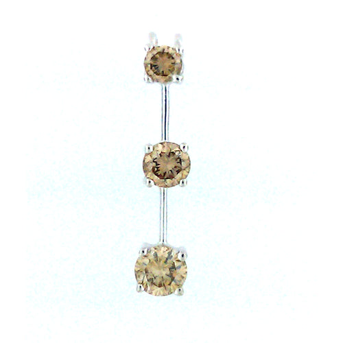 3 Tier Brown Diamond Pendant