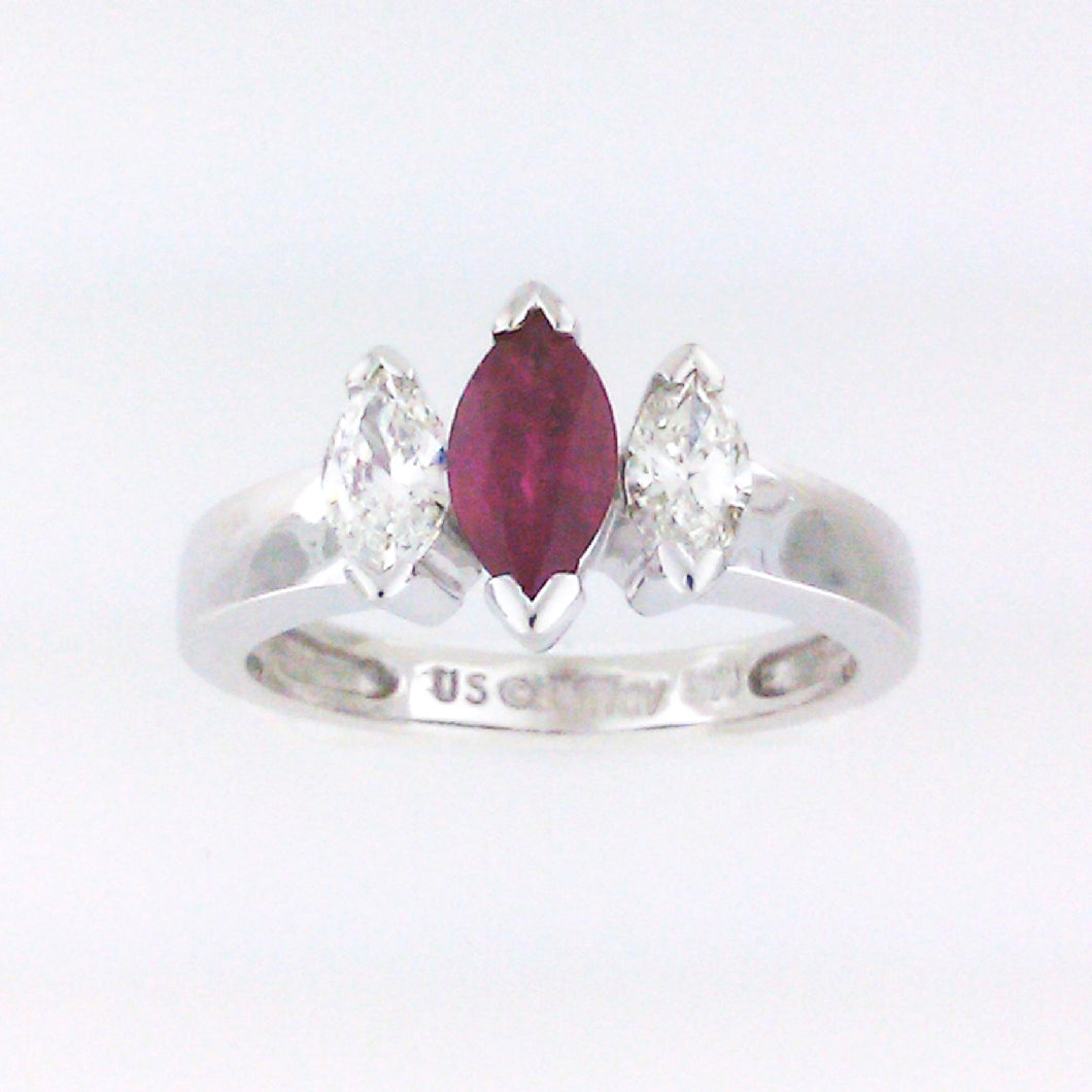 Marquise Ruby Ring