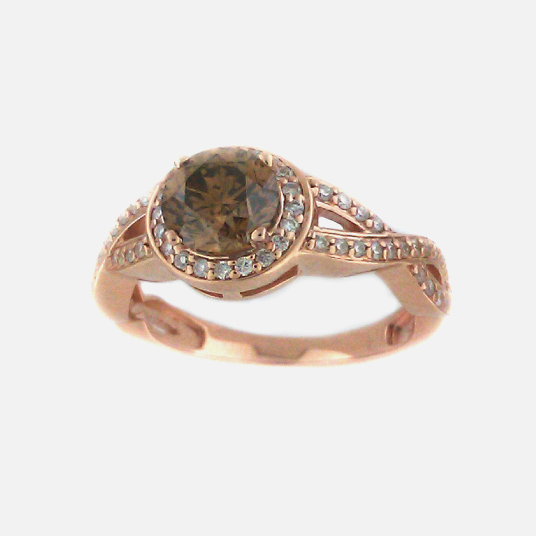 Solitaire Brown Diamond Ring