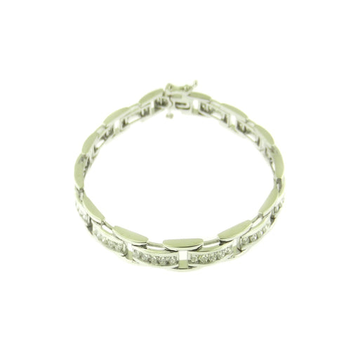 6 STONE CHANNEL SET DIAMOND BRACELET