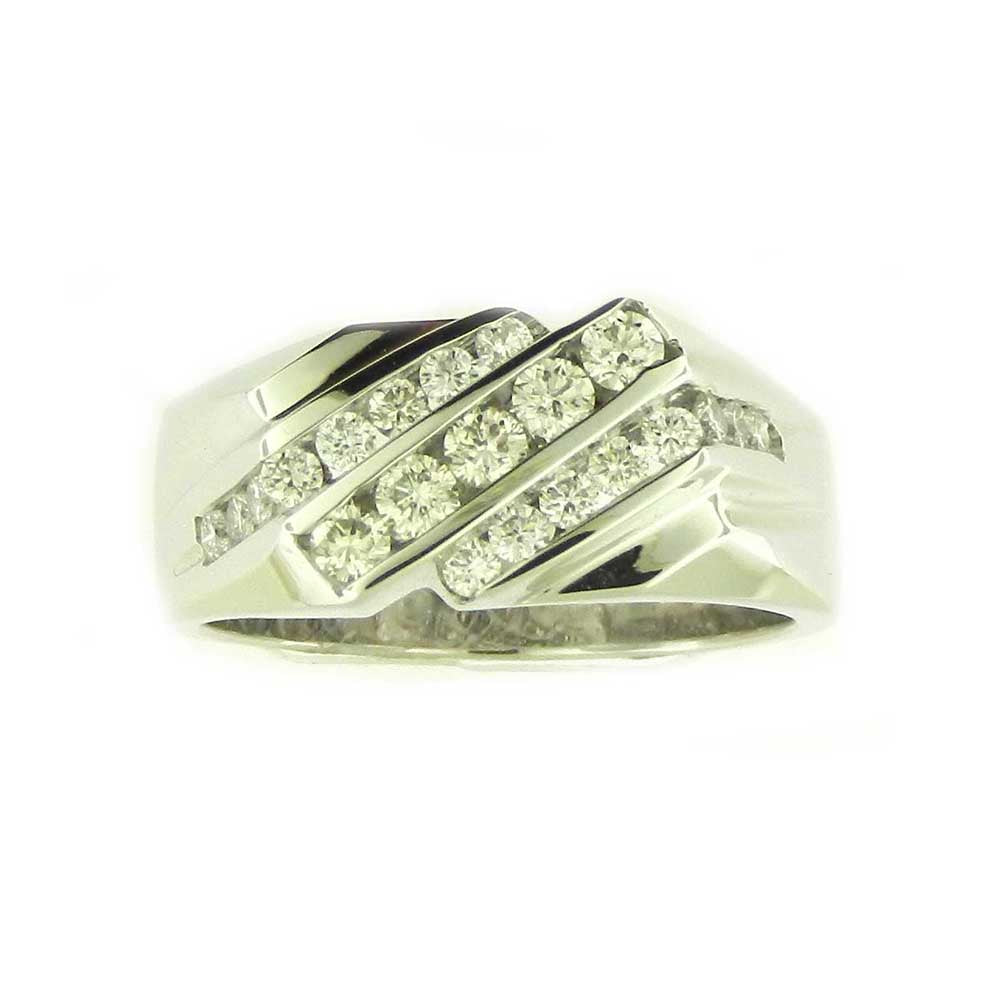 Men's 3 Row Diamond Band