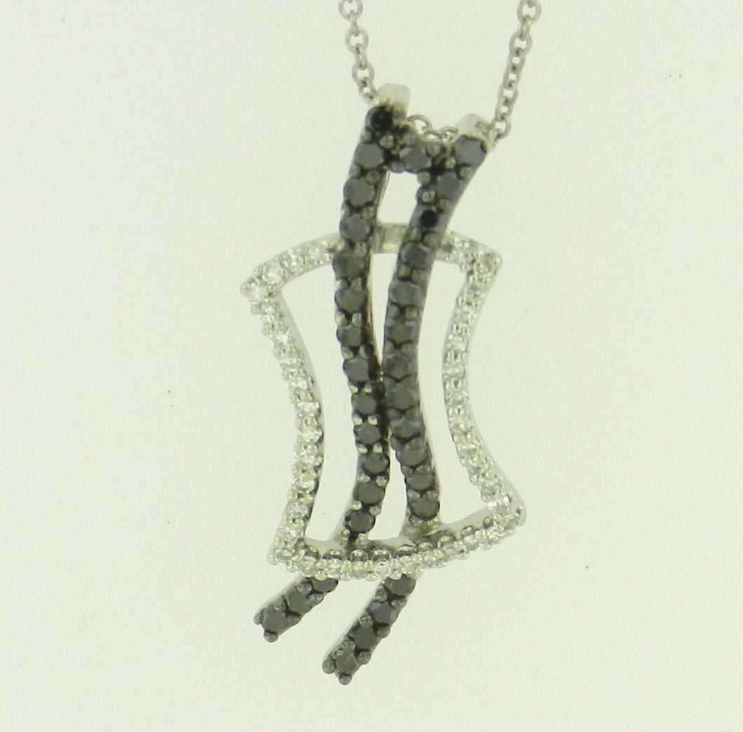 Festive Black Diamond Pendant