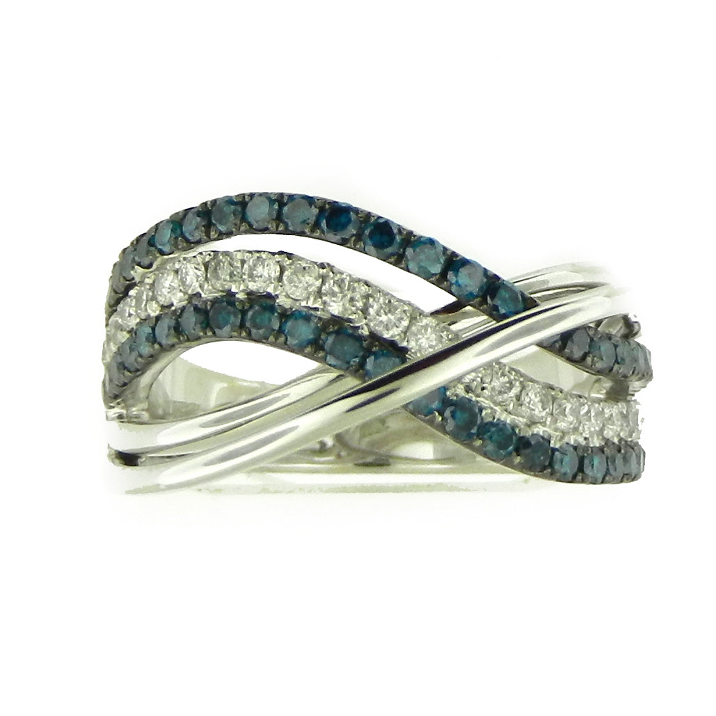 Impressionist Blue Diamond Ring